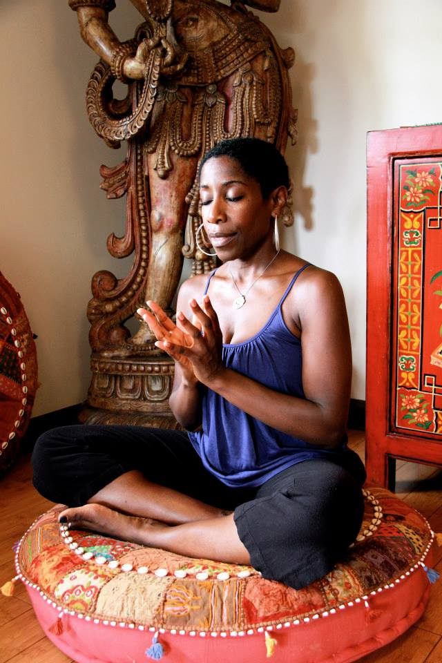 Crystal Lynn Meditating